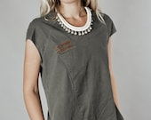Winter Sale 15% Off!!! new COLOR  A line olive stone washed cotton denim mini dress, jeans dress