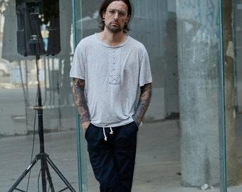 black pants - mens pants - mens urban clothing - mens streetwear - mens clothing - casual pants - cotton pants - loose pants - comfy pants