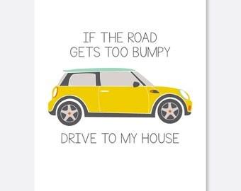 Bumpy Road Cancer Card