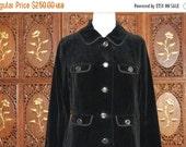 ON SALE Vintage 1960s Mono Lily London Black Velvet Coat