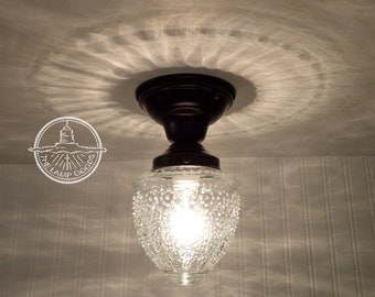 Island Falls. Glass CEILING LIGHT Clear Globe