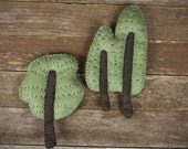 hand-stitched wool felt wall art: three trees by kata golda