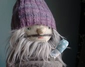 Grey Haired Bearded Hipster Man Doll