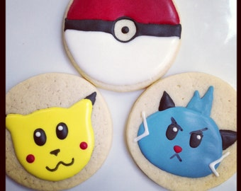 One dozen Pokemon cookie favors
