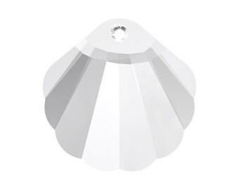 28mm Clear Crystal Shell Pendant - Swarovski crystal series 6723 - ocean seashell beach pendant - Austrian crystal jewelry pendant