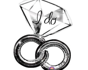 "I Do Wedding Ring Balloon, Balloon, 30"" Balloon, Wedding, Bridal Shower, Bridal Party, Bride and Groom, Party, Bridal Shower"
