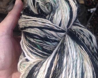 """244 Yards Luxury Alpaca, Silk, Merino, Bamboo, Nylon Hand Blended One Ply Yarn """"Very Muddy Leprechaun"""""""