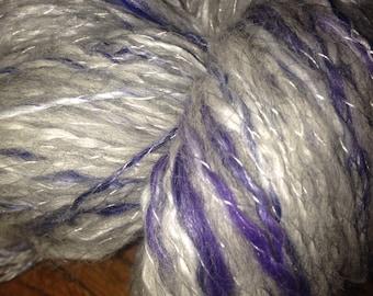 "SOLD - 600 Yards Luxury Silk / Alpaca 50/50 Handspun Two Ply Yarn ""MOONSTONE"""