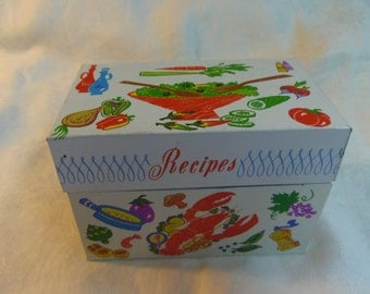 Vintage Metal Recipe Box by Ohio Art USA Kitchen Decor Good Eats from the Kitchen
