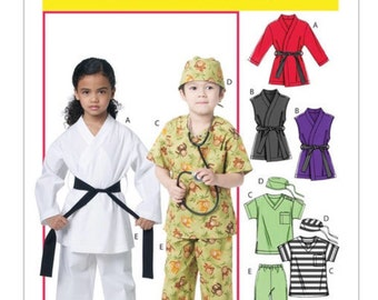 McCall's Easy sewing pattern M6184 | Child costume | Halloween | Karate kid | Physician | Unisex | Sizes 2,3,4,5 | Ready to ship!