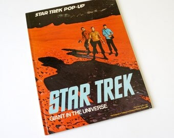 Vintage 1970s Childrens Book / Star Trek Giant in the Universe Pop-Up Book 1977 VGC Hc