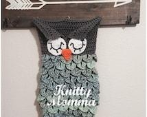 Crochet OWL PATTERN - Baby Sack and Hat Set - Sleeping Owl - Newborn Photo Prop - Owl Cocoon - Owl Sack - Sleeping Owl Eyes - Owl Baby Hat