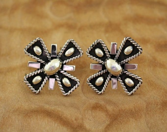 Brenda Schoenfeld Earrings Taxco Silver Bold