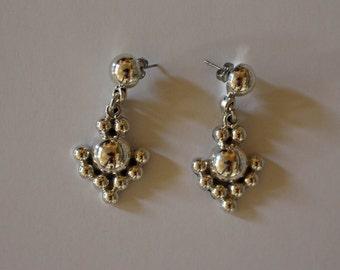 Taxco Silver Earrings Dangle