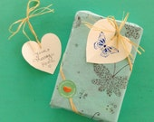 Gift Wrapping with LOVE and CARE! Available with Personalized Gift Note Heart Card with Butterfly Design