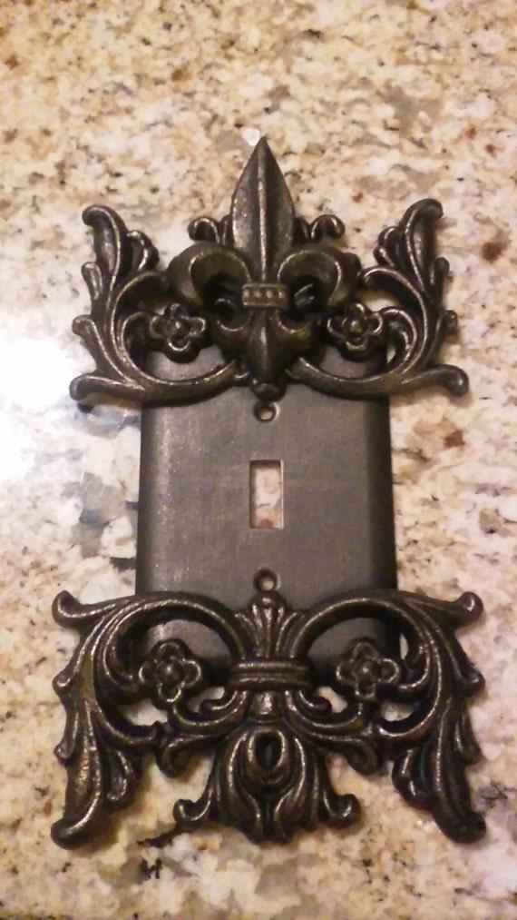 Metal Single Fleur De Lis Switch Plate Free By