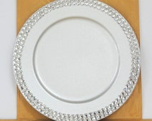 Rhinestone Bling Round Serving Tray, Wedding, Home Decor, Centerpiece