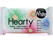 Japanese Hearty White Clay, 50g, Super lightweight Modeling Clay, Padico, Fake Sweets, Food Miniatures, Figure Doll, Accessories, DIY, c001