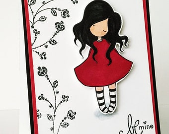 Be Mine GREETING CARD with envelope