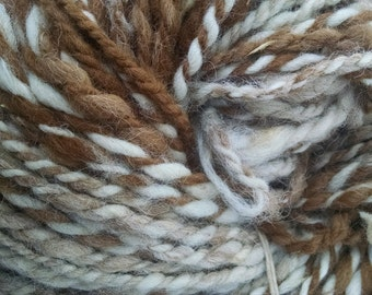 Alpaca Yarn, Handspun Yarn, Natural Alpaca Handspun