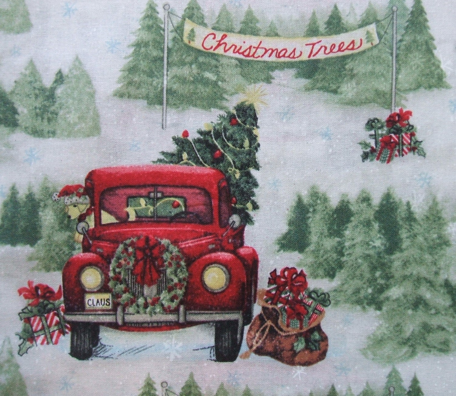 Free Christmas Tree Pick Up: Christmas Tree Farm Vintage Red Pick Up Truck Springs Creative