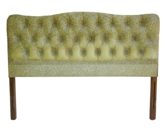 Hollywood Regency Full Upholstered Headboard Bed - Great for Reupholstery!