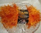 Fun Fur Eyelash Yarn by Lion Brand, Tangerine Orange Color 133, 2 balls available