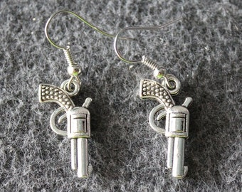 Gun Earrings,Pistol Earrings,Western