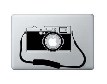 Camera Macbook Decal - Photographer Laptop Decal - Macbook Sticker