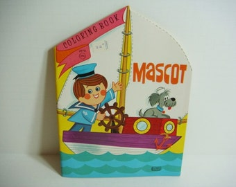 Mascot Coloring Book by Lowe 1967 Unused