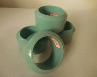Four AUDREY Acrylic Robins Egg Blue