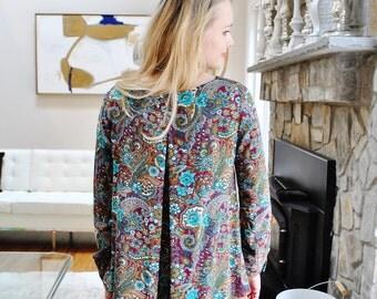 Sale Oksana blouse- box pleat in the back/ bohemian fashion/