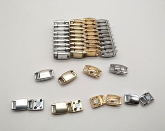 Mixed  Lots Magnetic Clasp 4 sets Rectangle Cord Clasps Leather Cord Ends Latching Magnetic Clasp Flat Leather Clasps Leather Strip Clasps