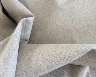 Biege NATURAL Felt Backed LINEN Cotton BLEND Upholstery Fabric,3.5 yard piece  11-14-02-0315