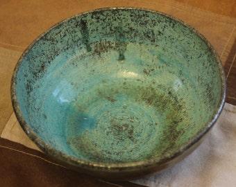 Turquoise Raku Bowl