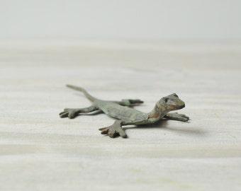 Vintage Copper Lizard Figurine