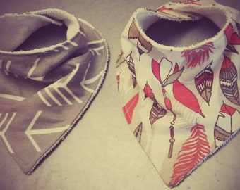 Hipster Bandana Bibs- Willow's Pair