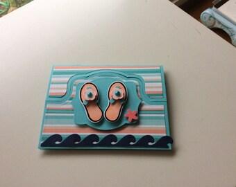 Enjoy your day beach themed birthday Handmade Greeting Card