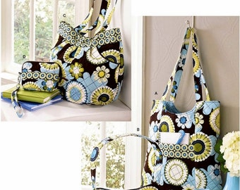 Pre-Quilted Fabric Bags Pattern, Cloth Bags Pattern, Simplicity Sewing Pattern 2551