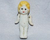 Vintage / Bisque / Doll / Flapper / Blond / frozen charlotte / penny doll / Vintage Dolls