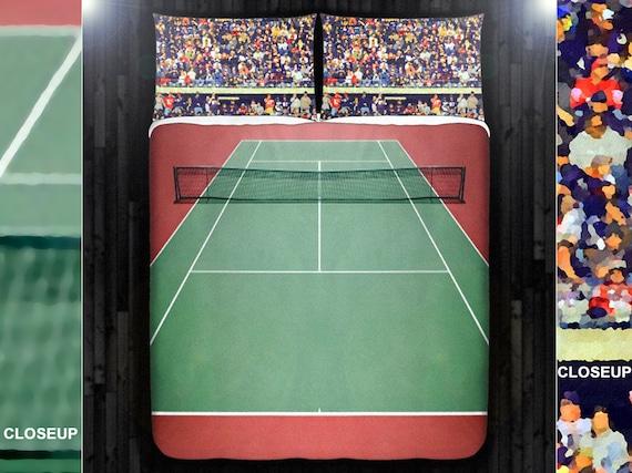 Tennis Bedding Tennis Court Duvet Cover Queen Size King Twin