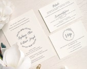 Printable Wedding Invitation Suite - Style S25 - GARDEN COLLECTION | Invitation | RSVP Card | Details Card