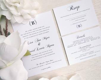 PRINTED Wedding Invitation Suite - Style INV31 - ELEGANT COLLECTION | wedding suite | elegant wedding | formal wedding