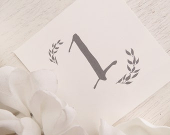 Printable Wedding Table Numbers  - Set of 18 - Style TN28 - LEAVES COLLECTION