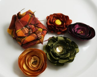Autumn Flower Embellishments