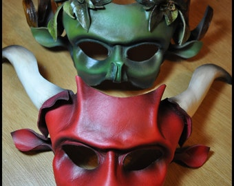 MADE TO ORDER- Leather Minotaur or bull mask by Parkers and Quinn.Wearible Art, Display, Labyrinth Mardi Gras day of the dead