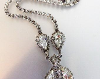 Pretty Vintage Clear Rhinestone Necklace