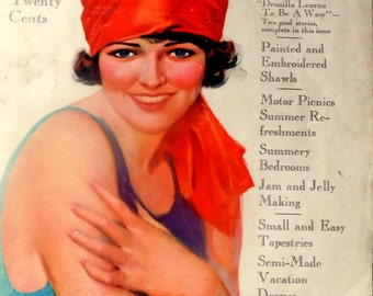 Modern Priscilla Magazine/Woman's Vintage Magazine/Vintage Fashions, Home Decor, Women's Issues/Household Advertising/Food ads