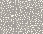 KNIT Organic Cotton Fabric- Birch - Firefly Dots -Shroom - Great Shipping Rates