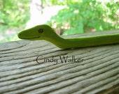 Custom Handcrafted Wild Weaver Snake Pick-up Stick - Loom / Tablet /Card / Inkle Weaving Helper